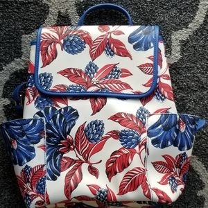 Tory burch floral backpack